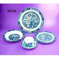 Underglaze Blue Willow 20 pcs Dinning Set for 4 Persons
